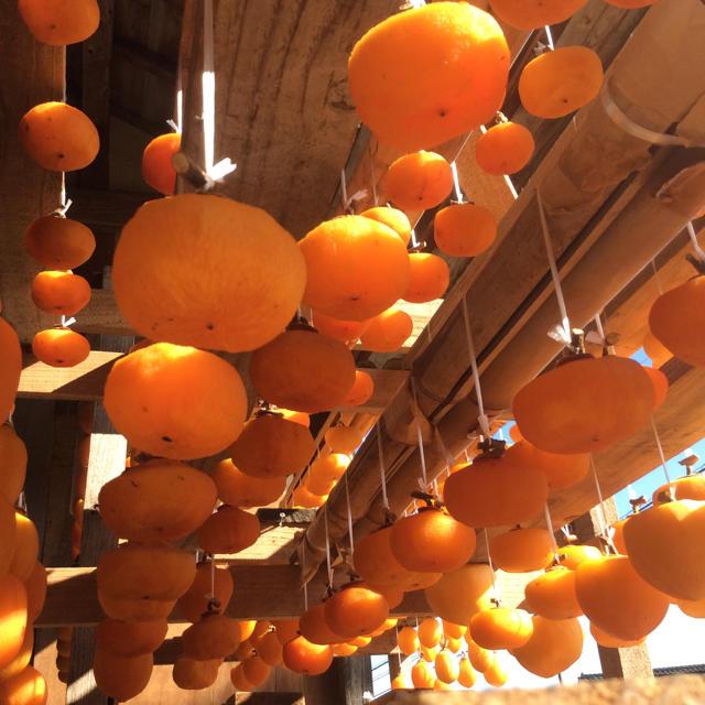 富山 干し柿 吊るし柿 ひらたねなし柿12個 食品/飲料/酒の食品(フルーツ)の商品写真