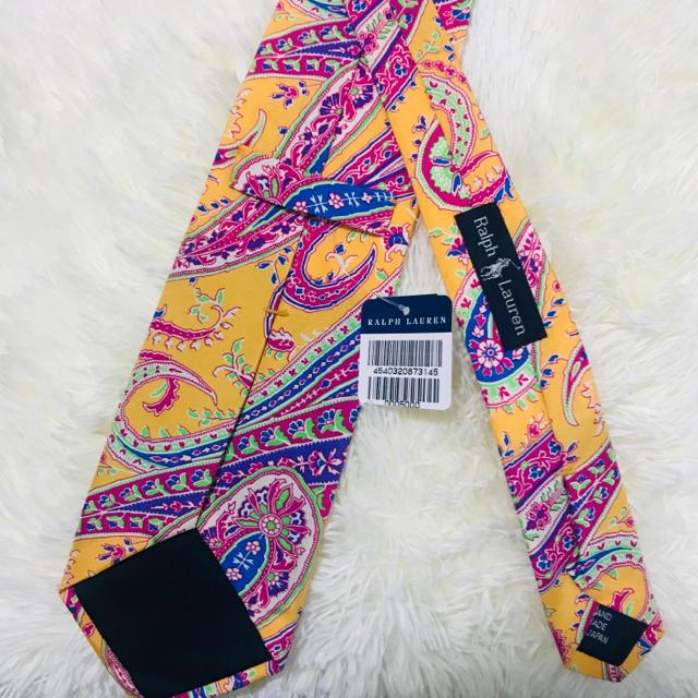 POLO RALPH LAUREN(ポロラルフローレン)のPOLO RALPH LAURENポロラルフローレン ペイズリー柄ネクタイPRL メンズのファッション小物(ネクタイ)の商品写真