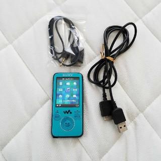 SONY - SONY NW-S638F ブルー ダイレクト録音コード 専用充電ケーブル付き