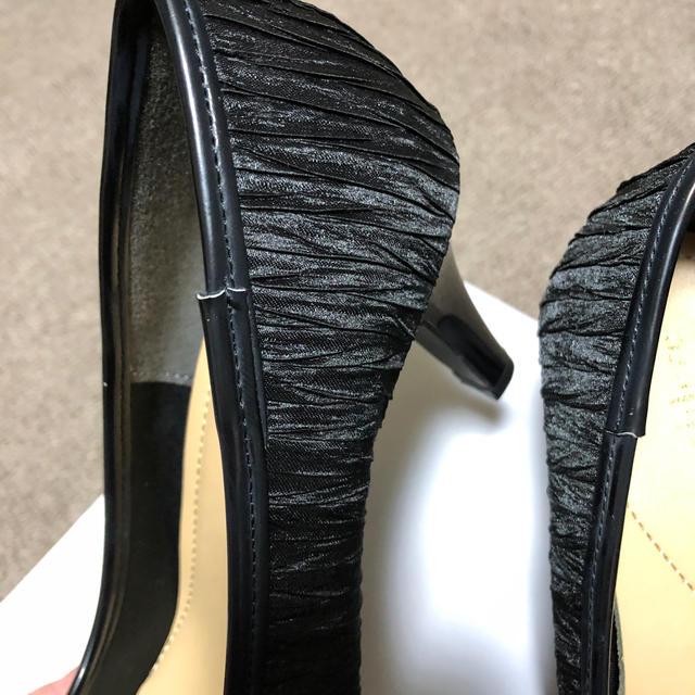 しまむら(シマムラ)の結婚式 パーティー パンプス ブラック レディースの靴/シューズ(ハイヒール/パンプス)の商品写真