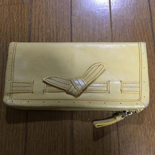 トゥモローランド(TOMORROWLAND)の黄色 レザー長財布(財布)