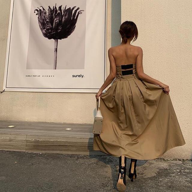 ZARA(ザラ)のbirthdaybash  LORAベアトップドレス レディースのワンピース(ロングワンピース/マキシワンピース)の商品写真