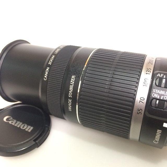 Canon(キヤノン)のCANON EF-S 55-250mm IS 白箱付き スマホ/家電/カメラのカメラ(レンズ(ズーム))の商品写真