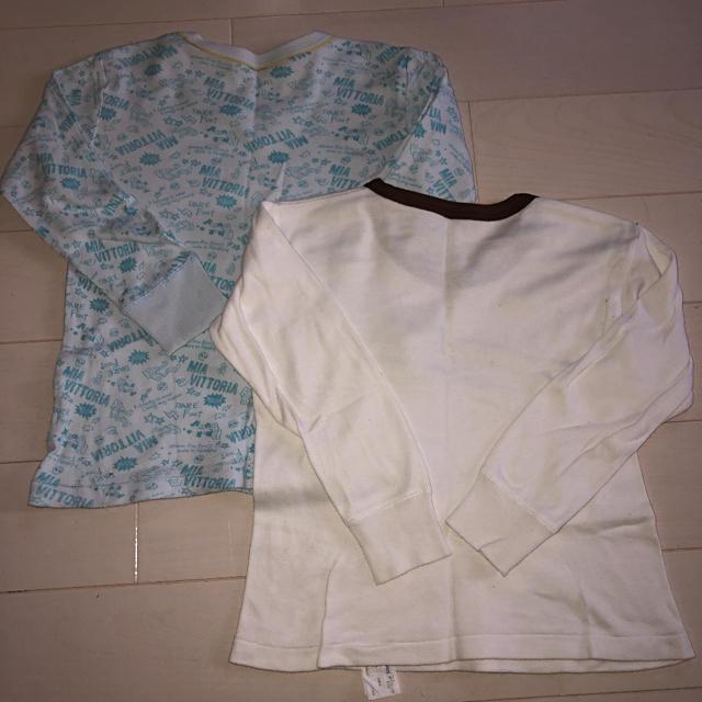 しまむら(シマムラ)の長袖肌着110 2枚組 キッズ/ベビー/マタニティのキッズ服 男の子用(90cm~)(下着)の商品写真