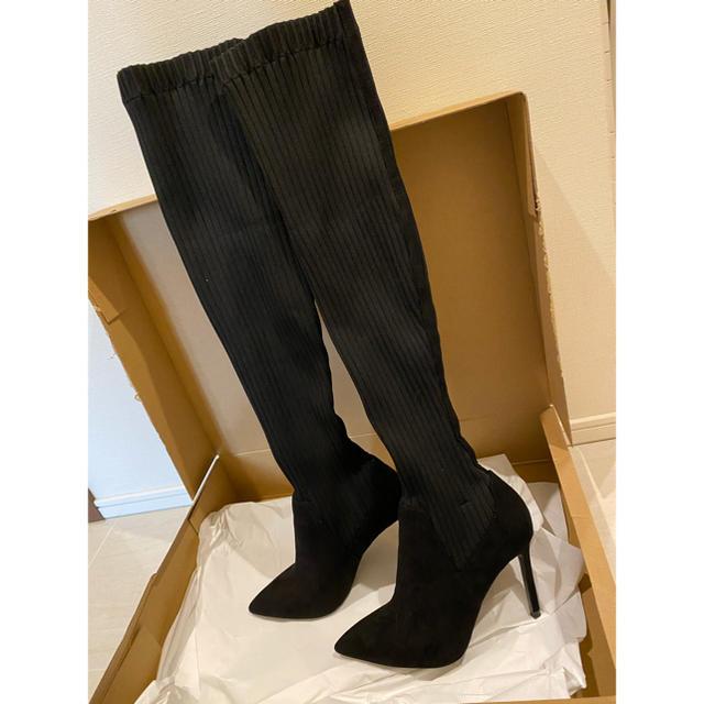 ZARA(ザラ)のZARA ニーハイソックスブーツ レディースの靴/シューズ(ブーツ)の商品写真