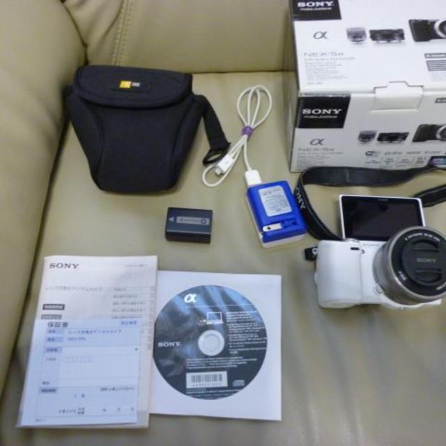 SONY ミラーレス一眼 α NEX-5RL パワーズームレンズキット スマホ/家電/カメラのカメラ(ミラーレス一眼)の商品写真