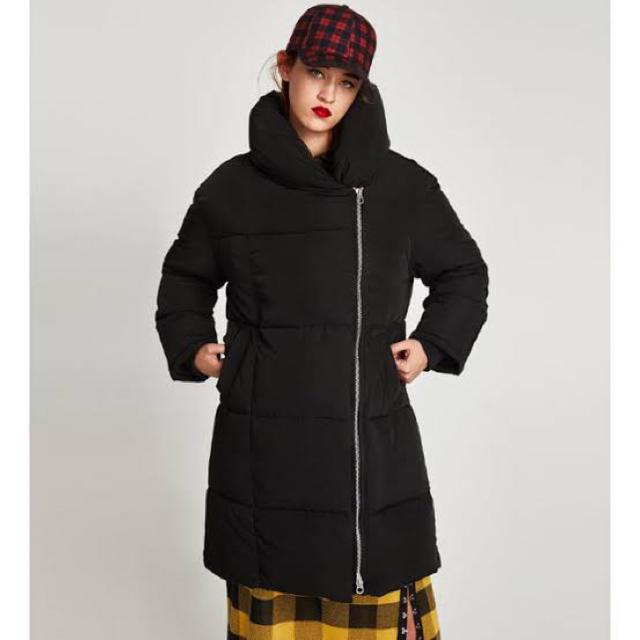 ZARA(ザラ)のロングパフコート レディースのジャケット/アウター(ロングコート)の商品写真