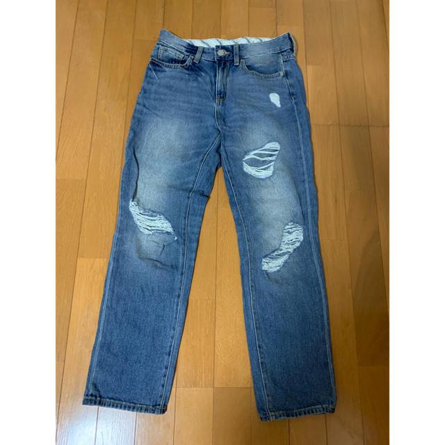 GU(ジーユー)のGU ダメージジーンズ レディースのパンツ(デニム/ジーンズ)の商品写真