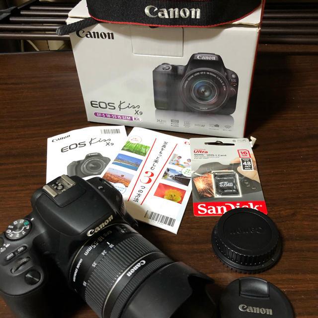 Canon(キヤノン)の【美品】EOS kiss x9 レンズキット 箱付き スマホ/家電/カメラのカメラ(デジタル一眼)の商品写真