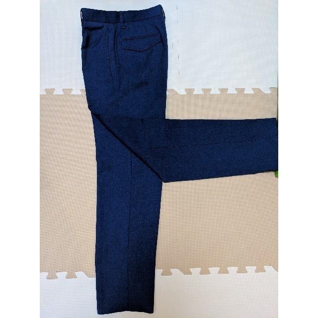 Mila Owen(ミラオーウェン)のミラオーウェン センタープレス 明るめ紺色パンツ レディースのパンツ(クロップドパンツ)の商品写真