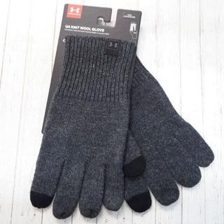 アンダーアーマー(UNDER ARMOUR)のアンダーアーマー ニットウールグローブ 手袋 L/XL グレー(手袋)