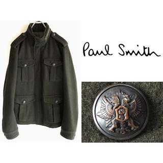 ポールスミス(Paul Smith)の美品 ポールスミス ウールカシミヤ メタル釦 ミリタリージャケット L(ミリタリージャケット)