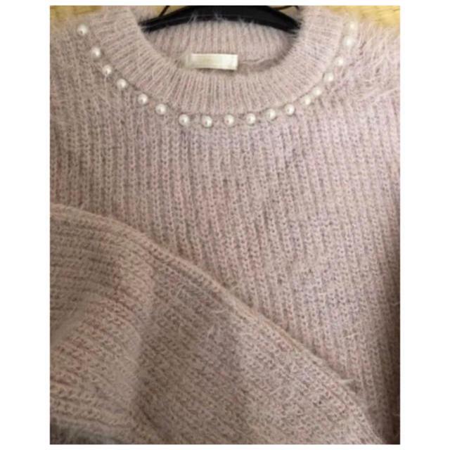 しまむら(シマムラ)のニット シャギーニット  ファー ピンク   レディースのトップス(ニット/セーター)の商品写真