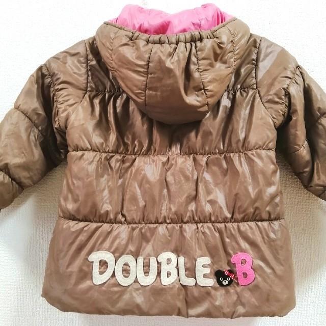 DOUBLE.B(ダブルビー)の可愛い◆ミキハウス ダブルビー◆リバーシブル中綿コート◆90センチ キッズ/ベビー/マタニティのキッズ服 女の子用(90cm~)(ジャケット/上着)の商品写真