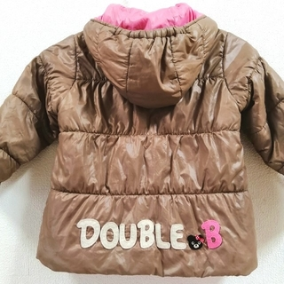 ダブルビー(DOUBLE.B)の可愛い◆ミキハウス ダブルビー◆リバーシブル中綿コート◆90センチ(ジャケット/上着)