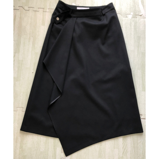 Asymmetric Drapy Wrap Skirt