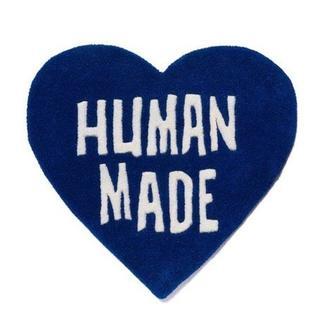 アベイシングエイプ(A BATHING APE)のHuman Made Heart Rug ハート ラグ Navy Blue(ラグ)