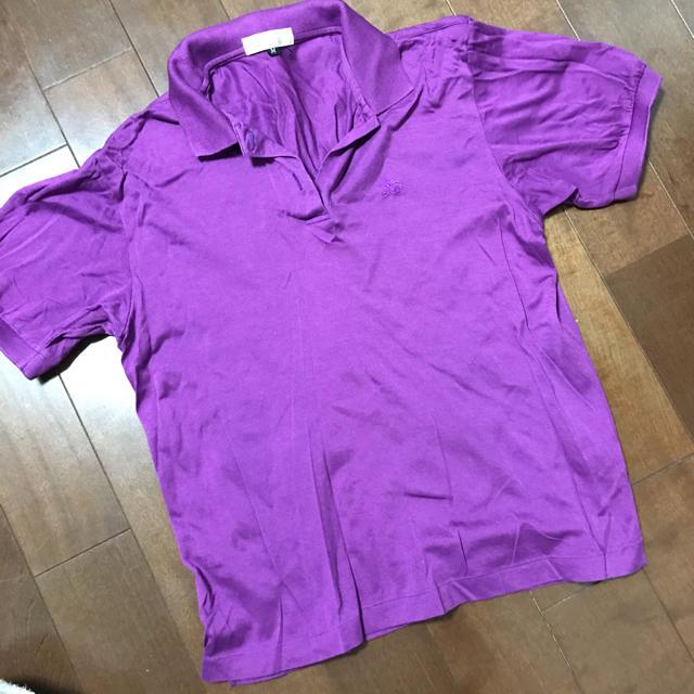 BURBERRY(バーバリー)のバーバリー  ポロシャツ  パープル M レディースのトップス(ポロシャツ)の商品写真