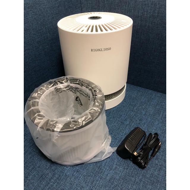 空気清浄機*コンパクト*静音*ライト付き*PSE認証済み スマホ/家電/カメラの生活家電(空気清浄器)の商品写真