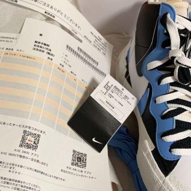 NIKE(ナイキ)のsacai × NIKE BLAYER MID 26.5CM メンズの靴/シューズ(スニーカー)の商品写真