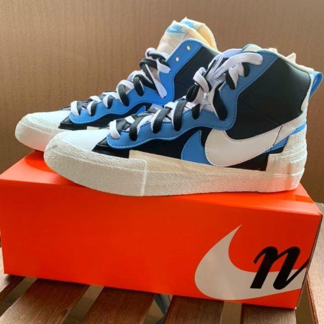 NIKE(ナイキ)のsacai × NIKE BLAYER MID 27.0 メンズの靴/シューズ(スニーカー)の商品写真