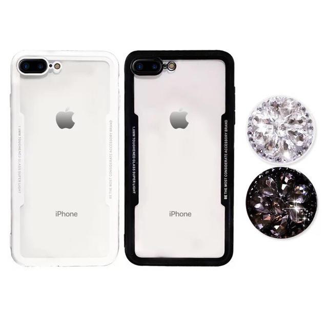 iPhone7/8,7/8plus x,xsケース ブラック ホワイト スマホ/家電/カメラのスマホアクセサリー(iPhoneケース)の商品写真