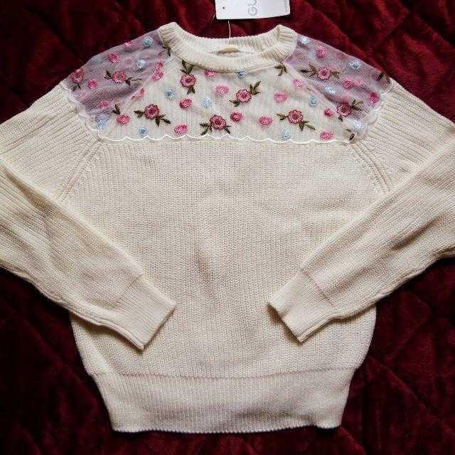 GU(ジーユー)の新品*刺繍ニット レディースのトップス(ニット/セーター)の商品写真