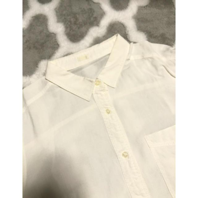 GU(ジーユー)のGU シンプルホワイトシャツ🌟 レディースのトップス(シャツ/ブラウス(長袖/七分))の商品写真