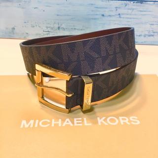 マイケルコース(Michael Kors)の人気 新品 ブランド マイケルコース MK ロゴ ロゴ モノグラム ベルト 茶色(ベルト)
