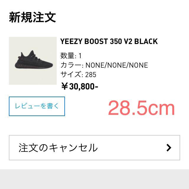 adidas(アディダス)のadidas Yeezy boost 350 v2 Black 28.5cm メンズの靴/シューズ(スニーカー)の商品写真