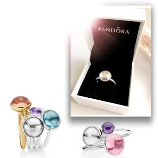 パンドラ 箱付きシルバーリング10号 指輪 クリア一粒石Pandora(リング(指輪))