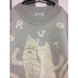 ロキエ(Lochie)のビンテージ 猫ニット(ニット/セーター)