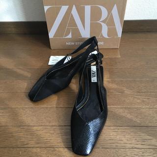 ZARA - ZARA  バレーシューズ パイソン /スエード