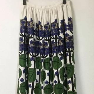 プープレ(peu pres)のプープレ 紫陽花柄スカート(ロングスカート)