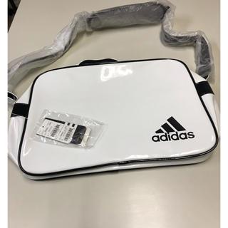 adidas - 新品未使用タグ付き❗️アディダス エナメルショルダーバッグ ホワイト×ブラック