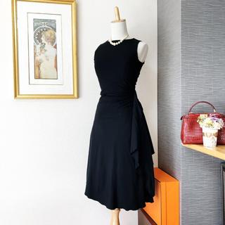 ヴァレンティノ(VALENTINO)の美品 ヴァレンティノ アシンメトリー 美ライン ドレス ワンピース(ひざ丈ワンピース)
