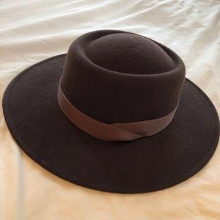 フロムファーストミュゼ(FROMFIRST Musee)のウール カンカン帽 ハット フェルト ブラウン(ハット)