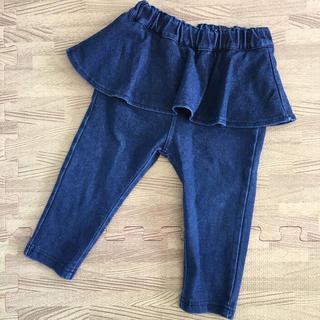 プティマイン(petit main)のデニム 80 スカート付きレギンス(パンツ)