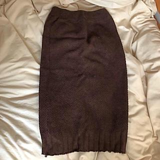 グレイル(GRL)のGRL 膝丈ニットスカート(ひざ丈スカート)
