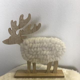 北欧 トナカイ クリスマス 置物 ウッド(置物)