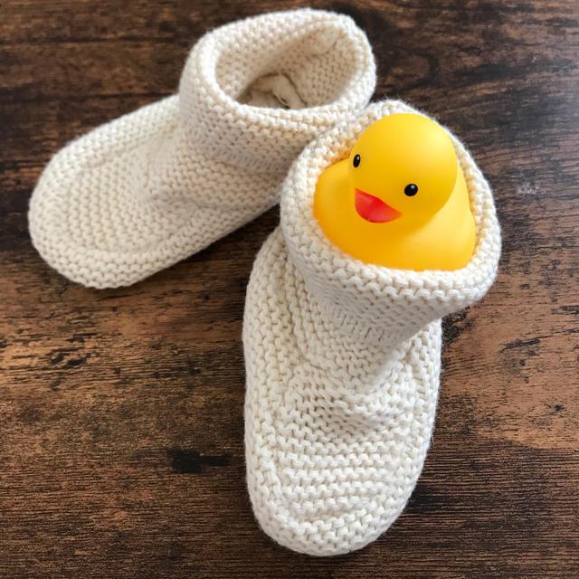babyGAP(ベビーギャップ)のギャップベビー ニットブーツ キッズ/ベビー/マタニティのベビー靴/シューズ(~14cm)(ブーツ)の商品写真