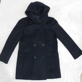 ニジュウサンク(23区)のあーこ様専用 23区 ウールフード付きコート 黒 サイズ40(Ⅼ)【美品】(その他)