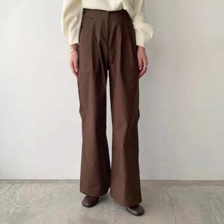 willfully  cover waist tuck long PT(カジュアルパンツ)