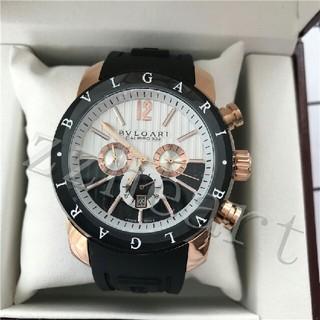 BVLGARI - BVLGARI ブルガリ ディアゴノ ウルトラネロ クロノグラフ メンズ 腕時計