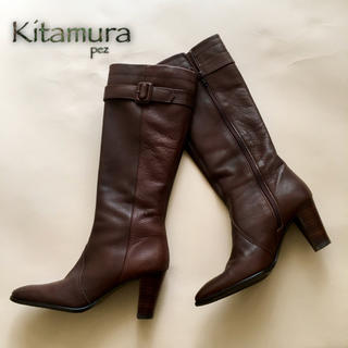 キタムラ(Kitamura)の極美品  Kitamura キタムラ 定35,000円 レザーブーツ 23.5㎝(ブーツ)