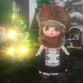 SALE クマさんエプロンワンピセット(人形)
