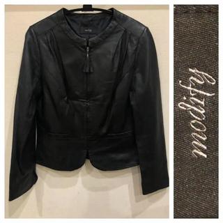 アンタイトル(UNTITLED)の美品 羊革 ライダースジャケット ♡ modify モディファイ(ライダースジャケット)