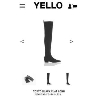 イエローブーツ(Yellow boots)のYELLO tokyo black flat boots フラットブーツ(ブーツ)