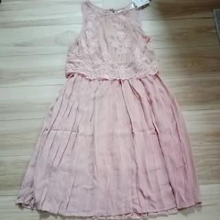 EMSEXCITE - ノースリレースプリーツワンピース ピンク
