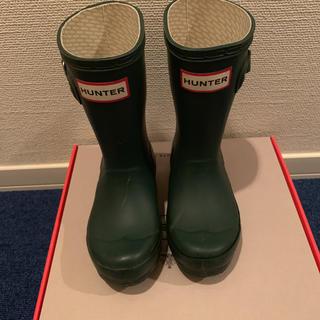 ハンター(HUNTER)のハンター キッズ レインブーツ 長靴 15センチ UK9(長靴/レインシューズ)